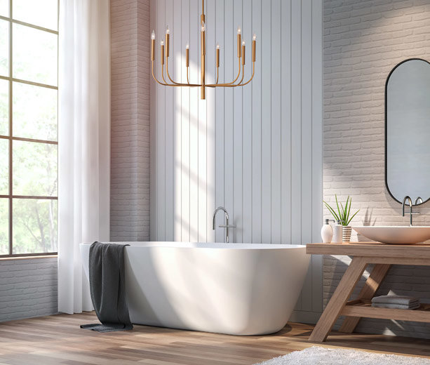 How To Add Chandelier Lighting Any, Small Contemporary Bathroom Chandeliers